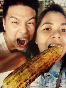 Our mandatory corn in a cob shot. Don't ask me why. Haha